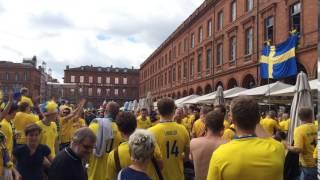 Avant-match Italie / Suède place du capitole
