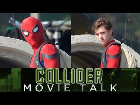 Collider Movie Talk - Spider-Man Homecoming Set Photos Reveal Tom Holland In Spidey Suit