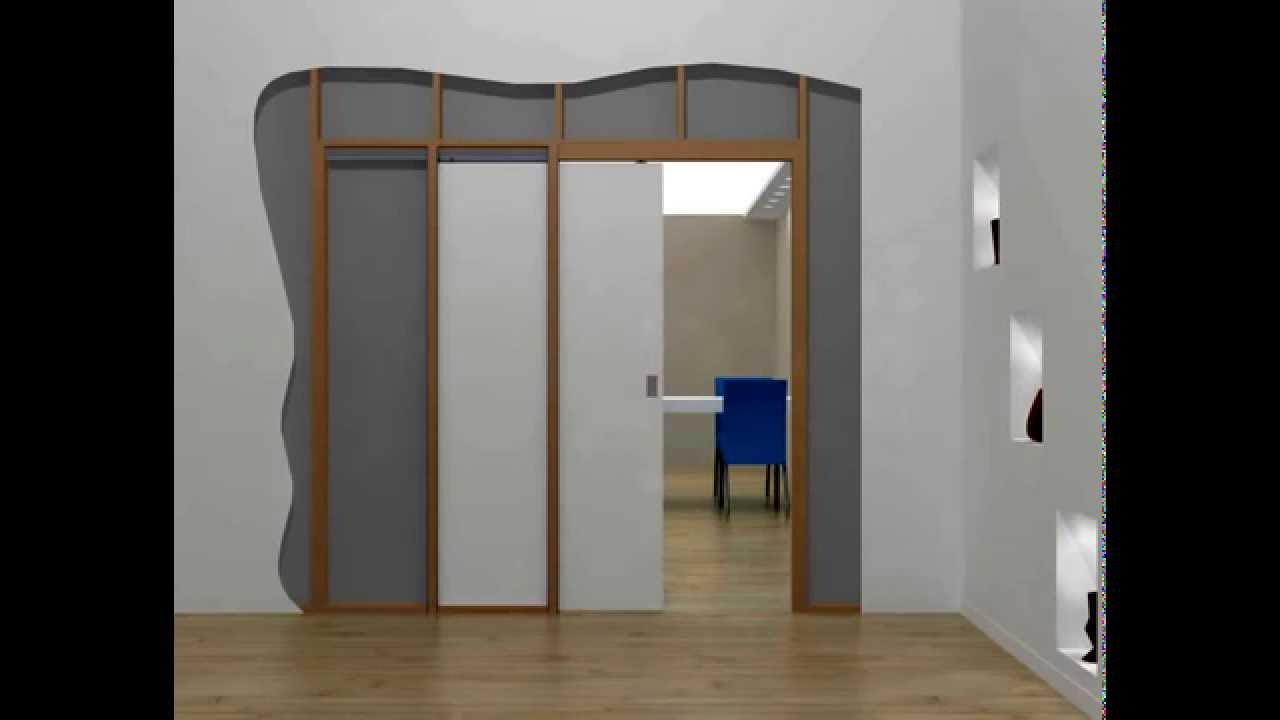 HIDEAWAY™ POCKET DOOR KIT   OPEN AND CLOSE   YouTube