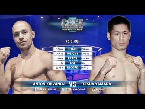 CAGE 38 Anton Kuivanen vs Tetsuya Yamada Full Fight MMA