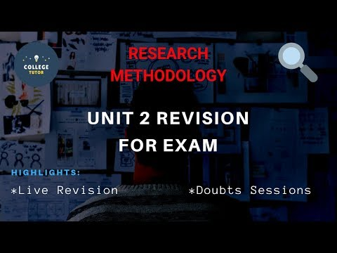Research Methodology Unit 2 Revision For EXAM | Study At Home With Me