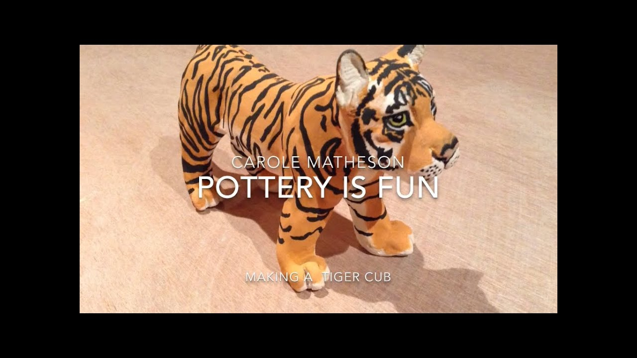 Pottery: Making Animals-How To Make A Tiger Cub Out Of Clay-Pottery is Fun