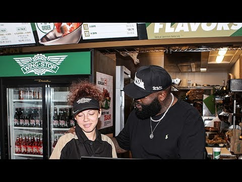 Rick Ross Motivates His Wingstop Employees ''Serve Your Way To The Top''