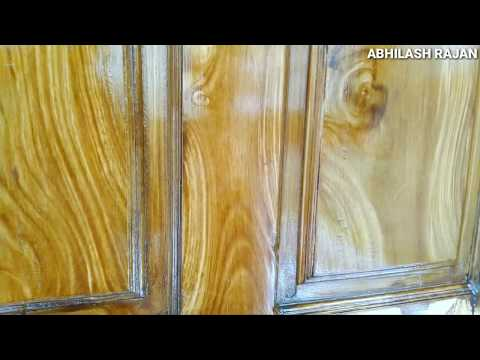 How to create wood grain on painted surface.