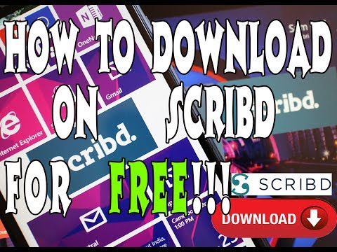 How To Download From SCribd For FREE!