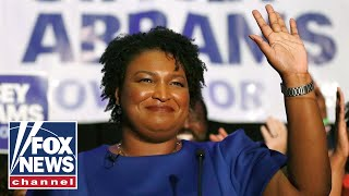 Stacey Abrams speaks to supporters