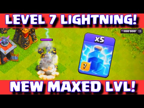 Clash of Clans NEW LEVEL 7 LIGHTNING SPELL WORLD PREMIERE | CoC Update Sneak Peek Fall 2015: