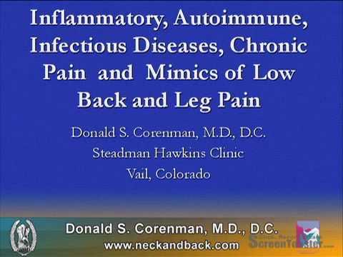 Inflammatory, Autoimmune, Infectious Diseases (Part 1)   Mimics of Low Back Pain   CO Spine Surgeon