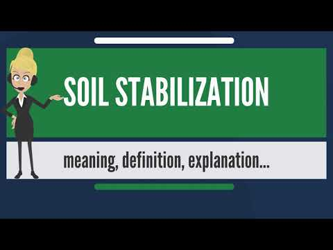 What is SOIL STABILIZATION? What does SOIL STABILIZATION mean? SOIL STABILIZATION meaning