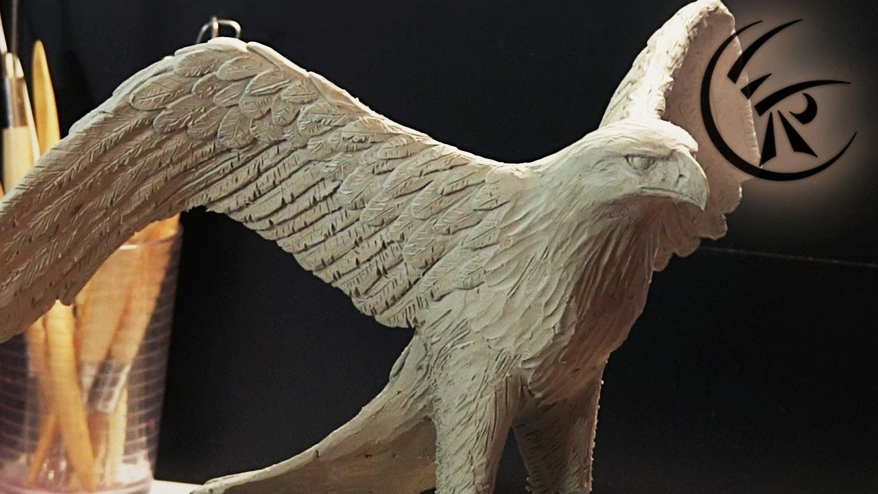 Sculpting Quot Golden Eagle Quot Timelapse Youtube