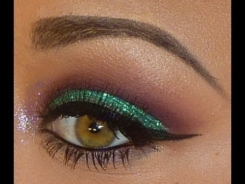 easy glitter eye makeup  youtube