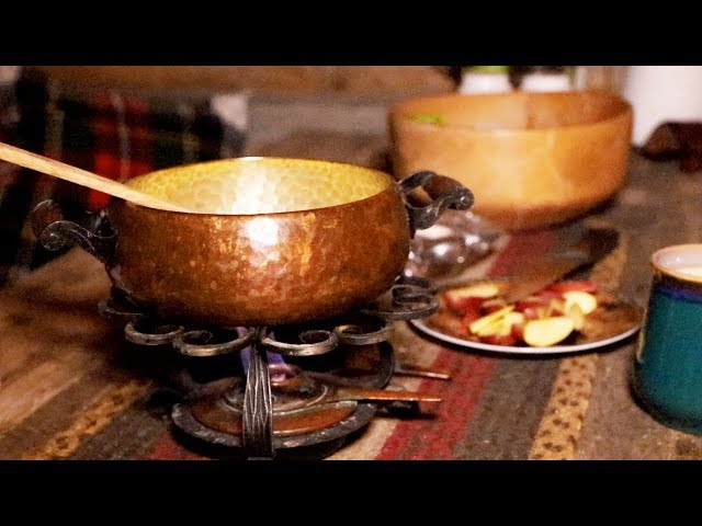Cooking at the Cabin: Cheese Fondue and Birthday Hike with My Wife and Dog