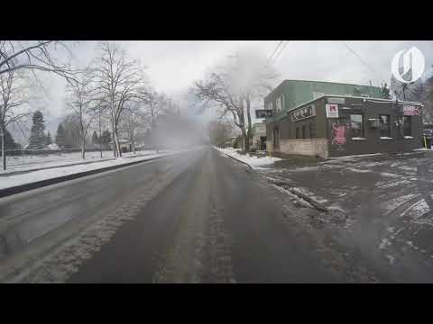 Driving through snow in Portland (time-lapse)