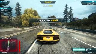 Need For Speed: Most Wanted 2012 Aventador Gameplay (PC MAX SETTINGS)