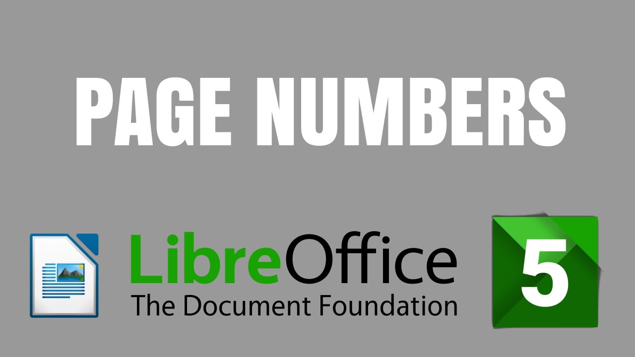 how to add page numbers in libreoffice