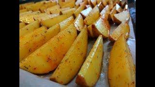 Картошка по-деревенски к праздничному столу