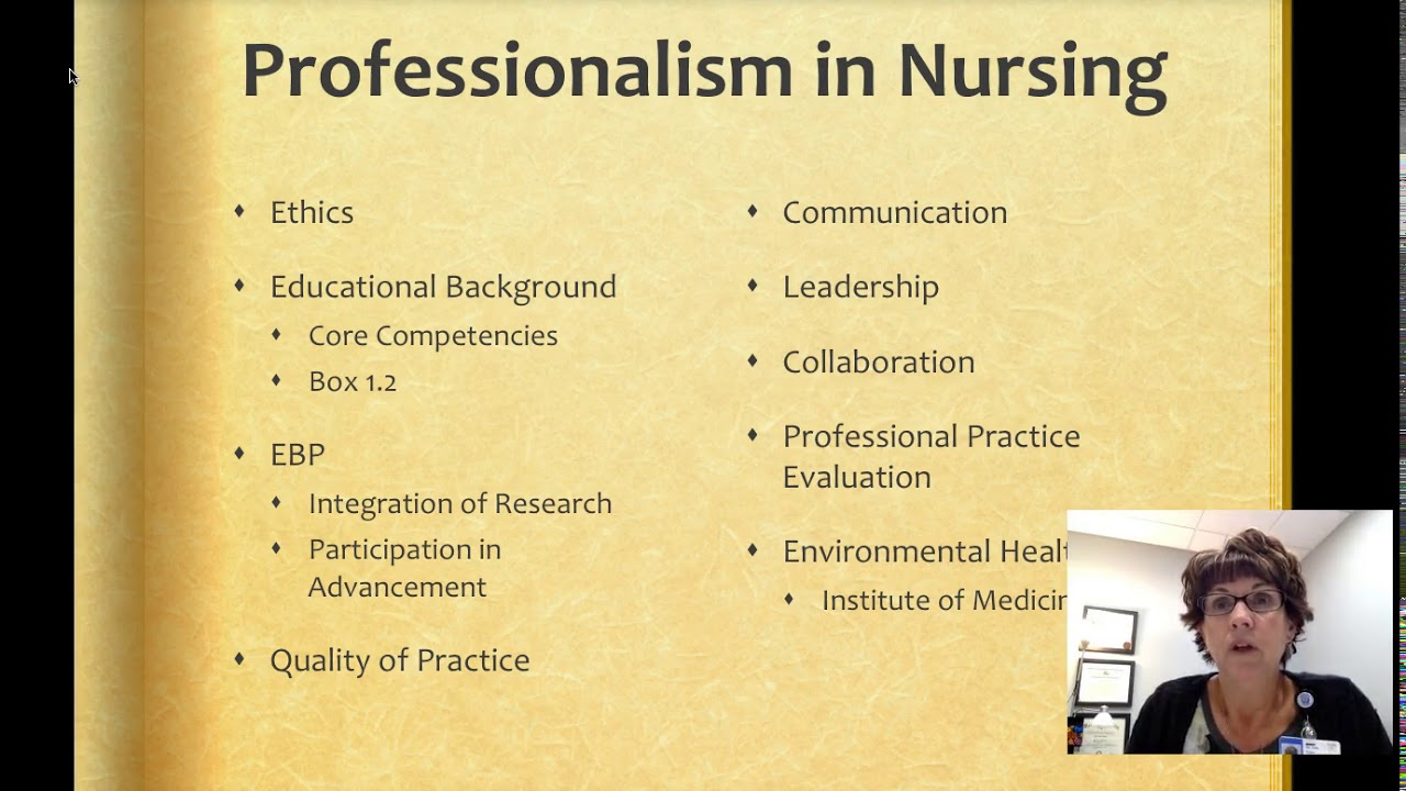 professionilism of nursing How can the answer be improved.