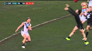 Round 12 AFL Carlton v Port Adelaide - Last two minutes