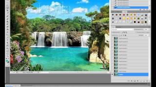 Анимация воды пейзаж часть 1