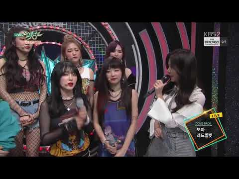 180202 Red Velvet (레드벨벳) & BoA (보아) COMEBACK INTERVIEW @Music Bank