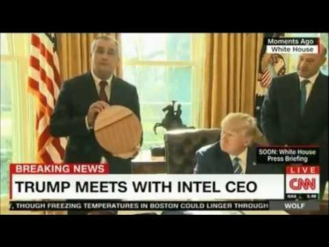 Some say Intel CEO meeting with Trump turned into a really awkward infomercial
