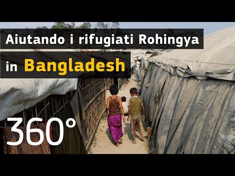 Bangladesh: consegna di aiuti nel campo profughi più grande del mondo (video a 360 gradi)
