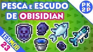 Criando Obsidian para Caveira e Escudo! • Terraria Mobile #23