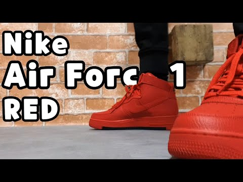 Nike Air Force 1 High '07 Red Unboxing/nike Air Force 1 High Review