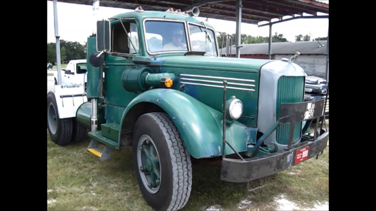 Ljt Mack Truck 1948 : Larry sliger s ljt mack tractor youtube