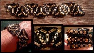 Beading4perfectionists : 1920's Art Deco Triangle beaded bracelet beading tutorial