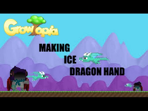 Growtopia making ice dragon hand youtube for Making sorbet by hand