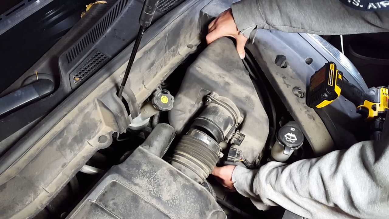 how to change the air filter on a 2009 2010 2011 2012 chevy traverse acadia enclave outlook [ 1280 x 720 Pixel ]