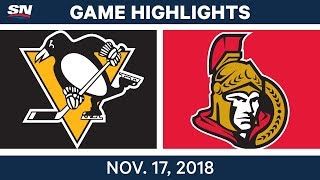 NHL Highlights | Penguins vs. Senators – Nov. 17, 2018