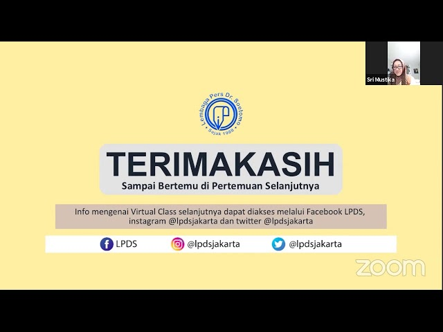 LPDS Virtual Class #33 - Hari Kartini 2021