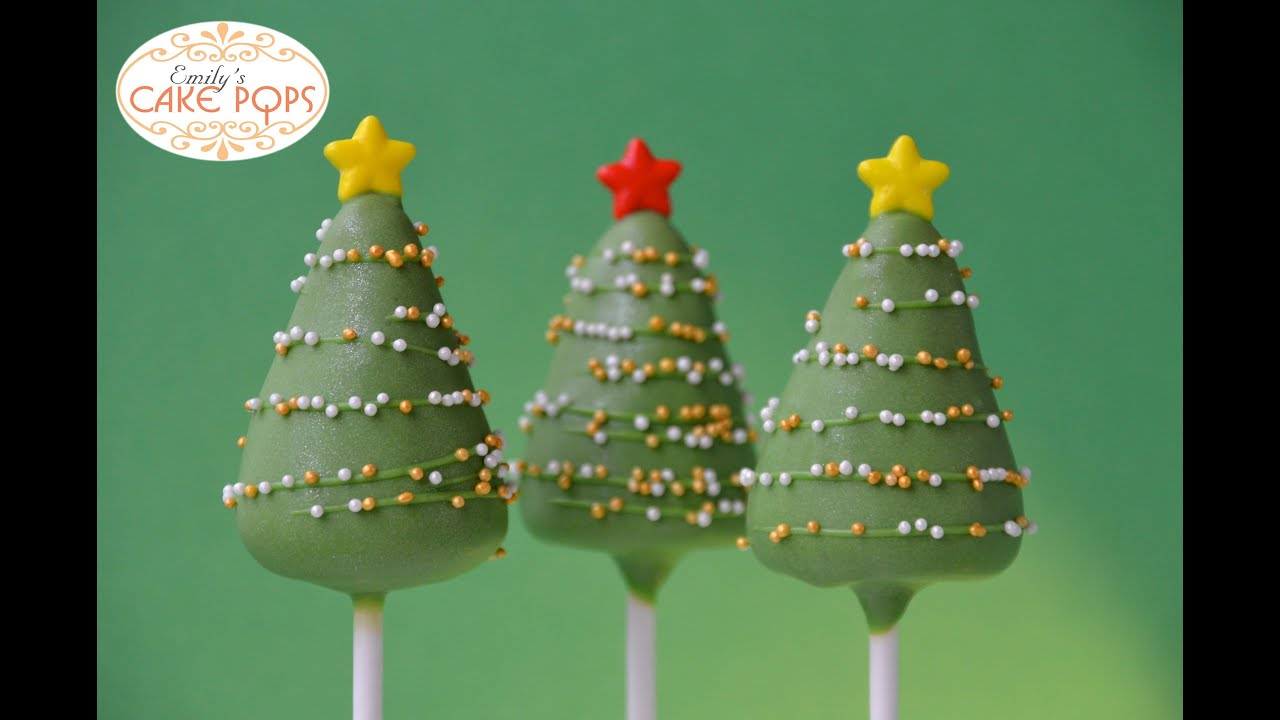 christmas cake pops tree cake pops 2930