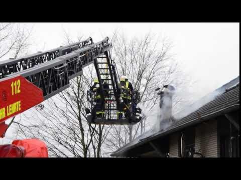 Schornsteinbrand Freiwillige Feuerwehr lehrte