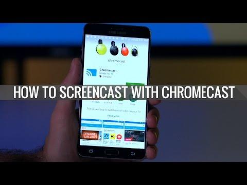 How to screencast with Chromecast