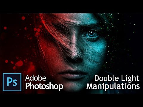 Видеоурок: Двойной свет / Twin Light, Double Manipulation Tutorial / Adobe Photoshop Photo Effects