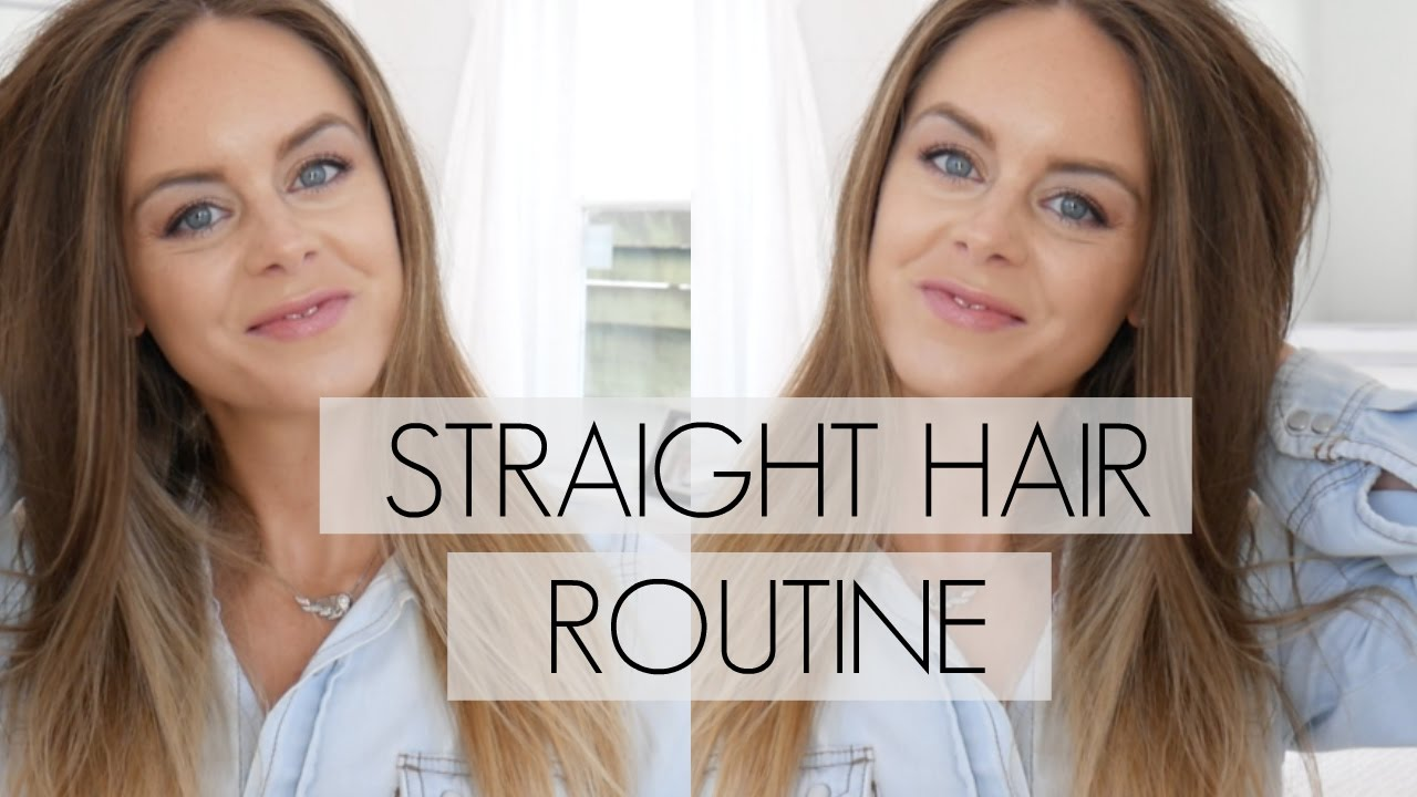 My Straight Hair Routine And Hair Volume Tips