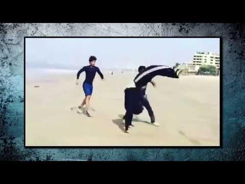 Tiger Shroff Showing Amazing Stunts