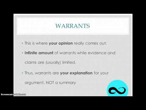 How To Write A Warrant