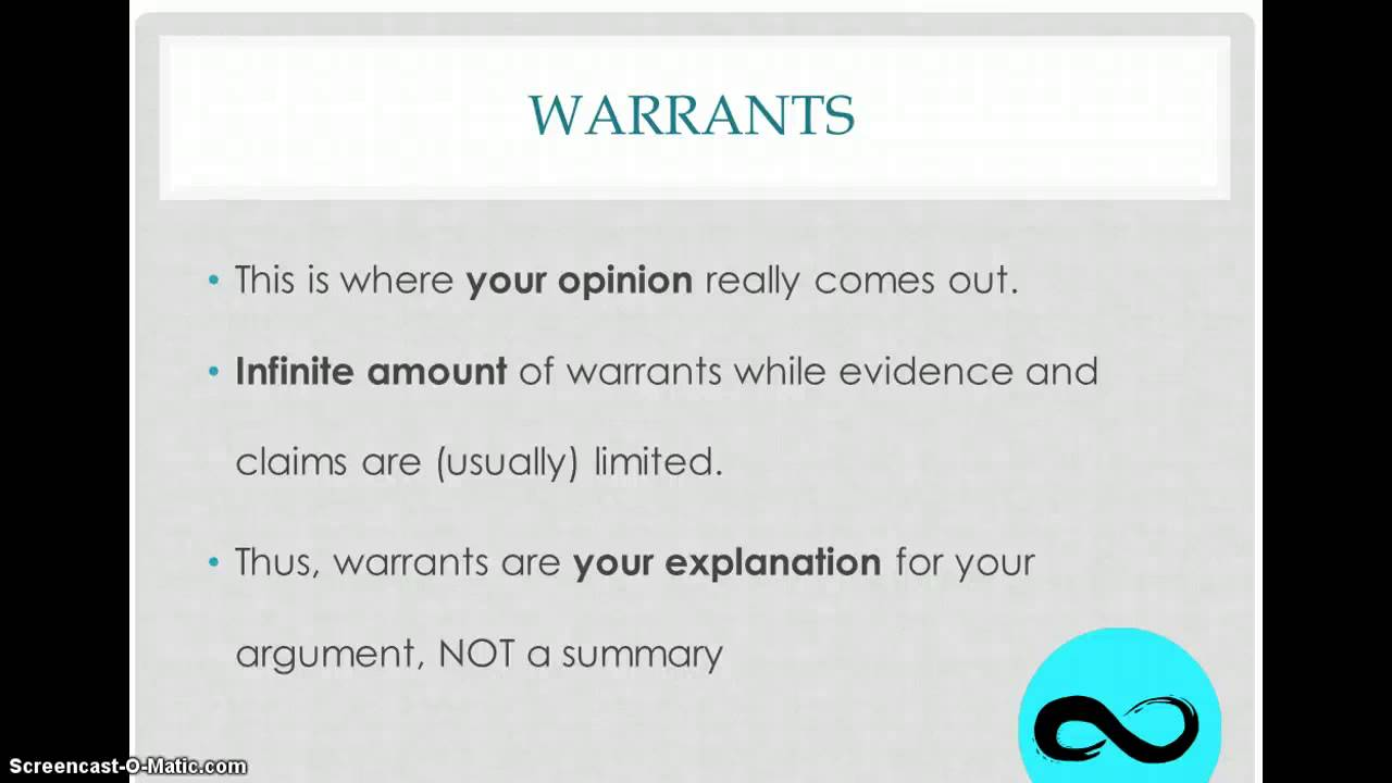 how to write a warrant how to write a warrant