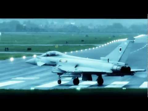 4 Typhoons taking of at RAF Northolt