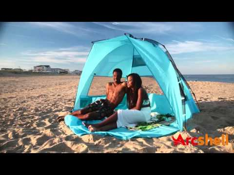 detailed look 45e3c 9e28a Arcshell Premium Extra Large Instant Pop Up Cabana Beach Sun Shade Tent USF  50+