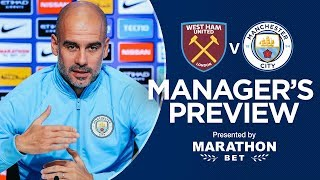 Pep Guardiola previews West Ham v City | PRESS CONFERENCE