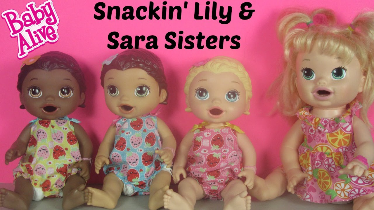 Baby Alive Super Snackin Lily Blonde Unboxing With