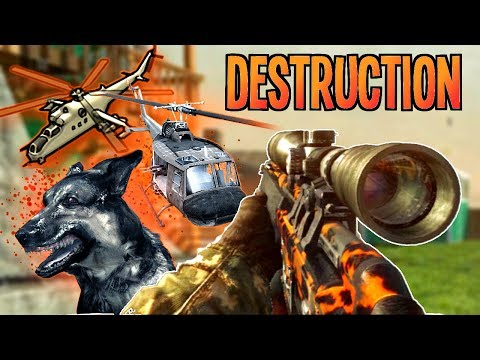 Call of Duty Black Ops: Destruction in Nuketown with the PSGI sniper (PS3 720 HD Gameplay)