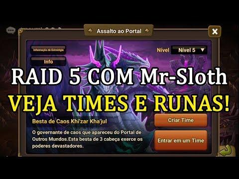 Assalto ao PortalRaid 5 com MR-Sloth - Summoners War