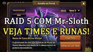 Baixar Assalto ao Portal(Raid 5) com MR-Sloth - Summoners War