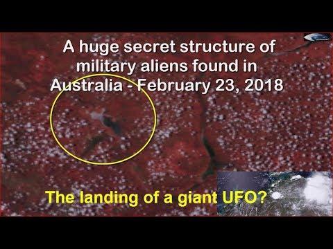 A huge secret structure of military aliens found in Australia - February 23, 2018 (UFO - НЛО)
